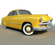 Coche Low Poly Yellow RETRO modelo 3d