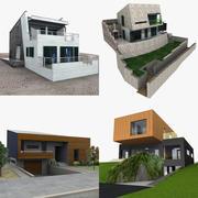 Współczesne domy 3d model