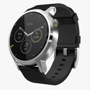 Moto 360 2nd Gen Silver Leather Band 3d model