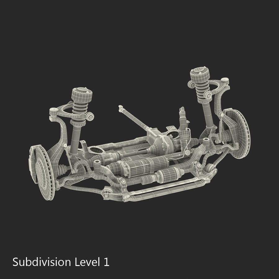 SUV Front Suspension 2 royalty-free 3d model - Preview no. 25