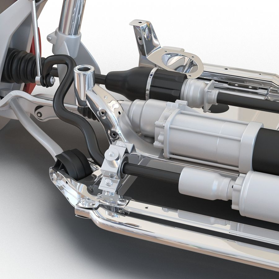 SUV Front Suspension 2 royalty-free 3d model - Preview no. 22