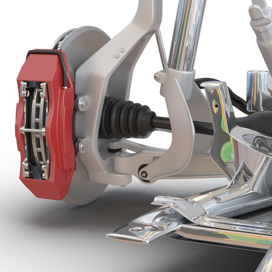 SUV Front Suspension 2 royalty-free 3d model - Preview no. 19
