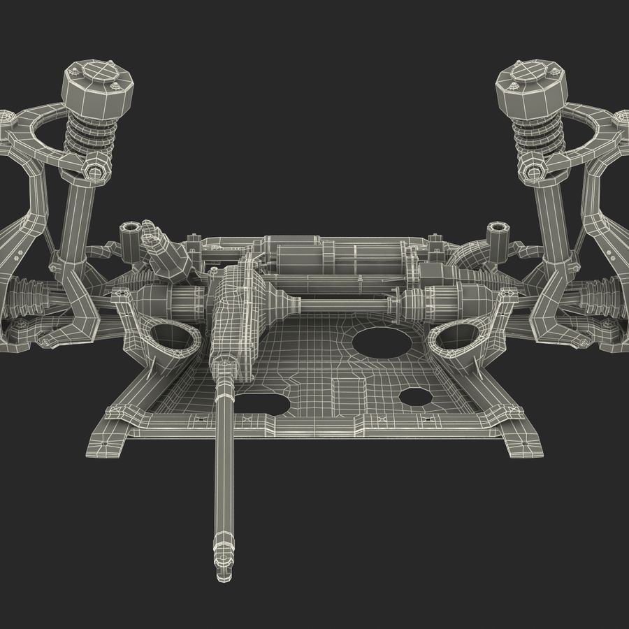 SUV Front Suspension 2 royalty-free 3d model - Preview no. 34
