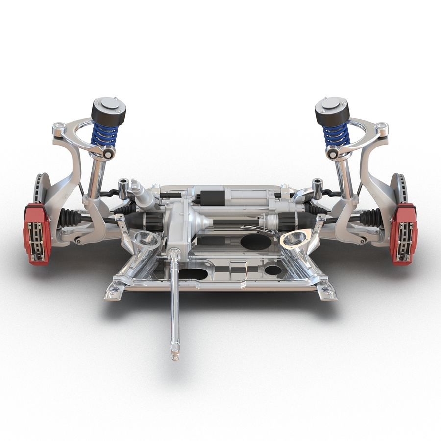 SUV Front Suspension 2 royalty-free 3d model - Preview no. 9