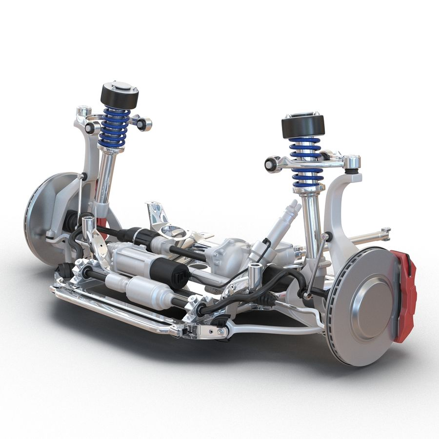 SUV Front Suspension 2 royalty-free 3d model - Preview no. 5