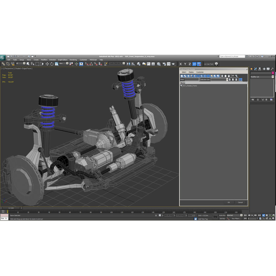 SUV Front Suspension 2 royalty-free 3d model - Preview no. 28