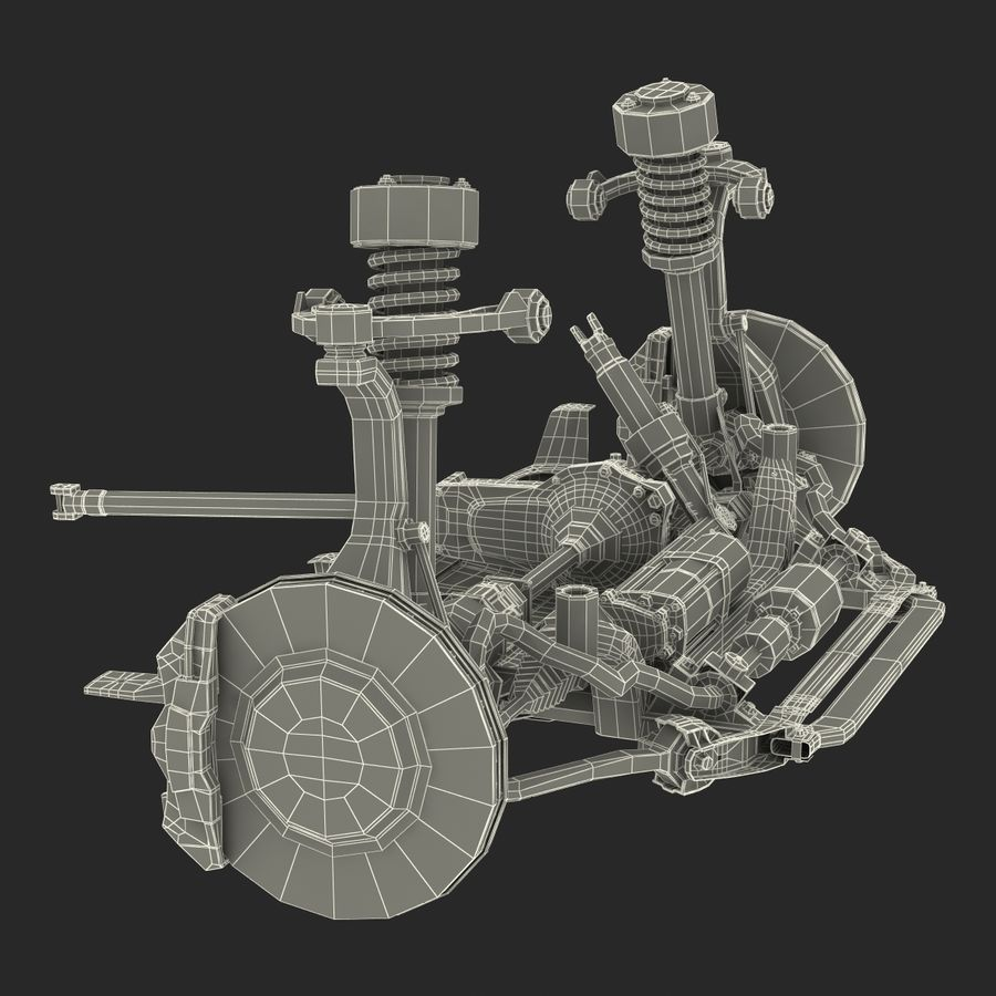 SUV Front Suspension 2 royalty-free 3d model - Preview no. 30
