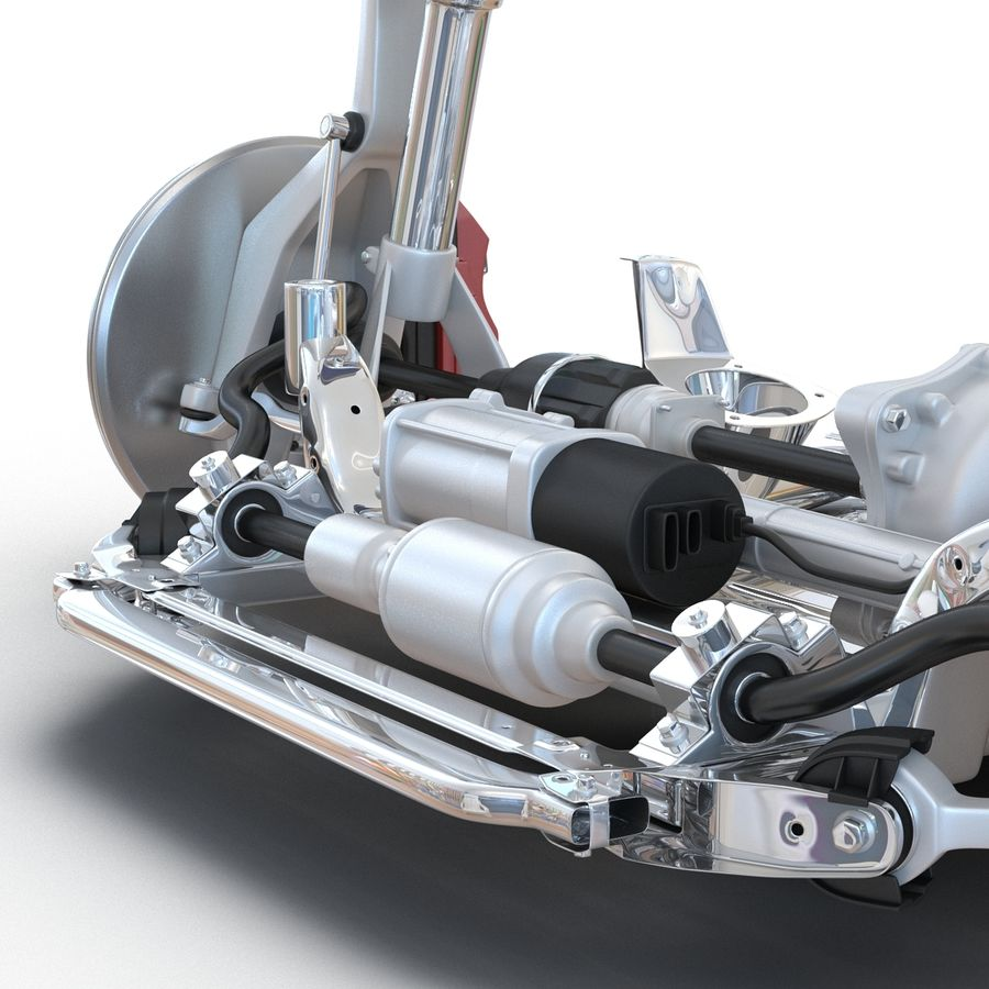 SUV Front Suspension 2 royalty-free 3d model - Preview no. 21