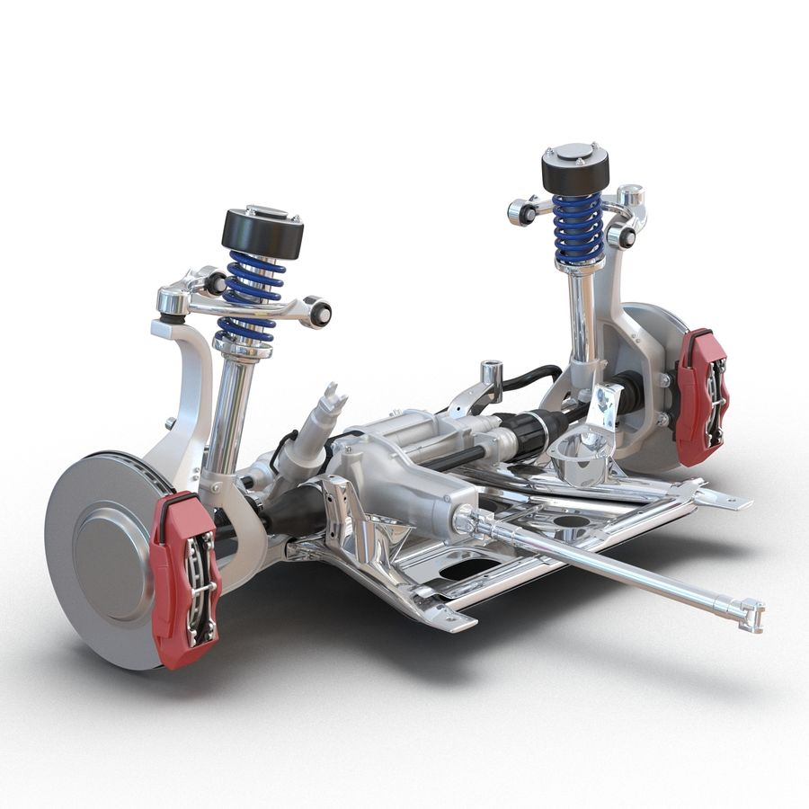 SUV Front Suspension 2 royalty-free 3d model - Preview no. 7