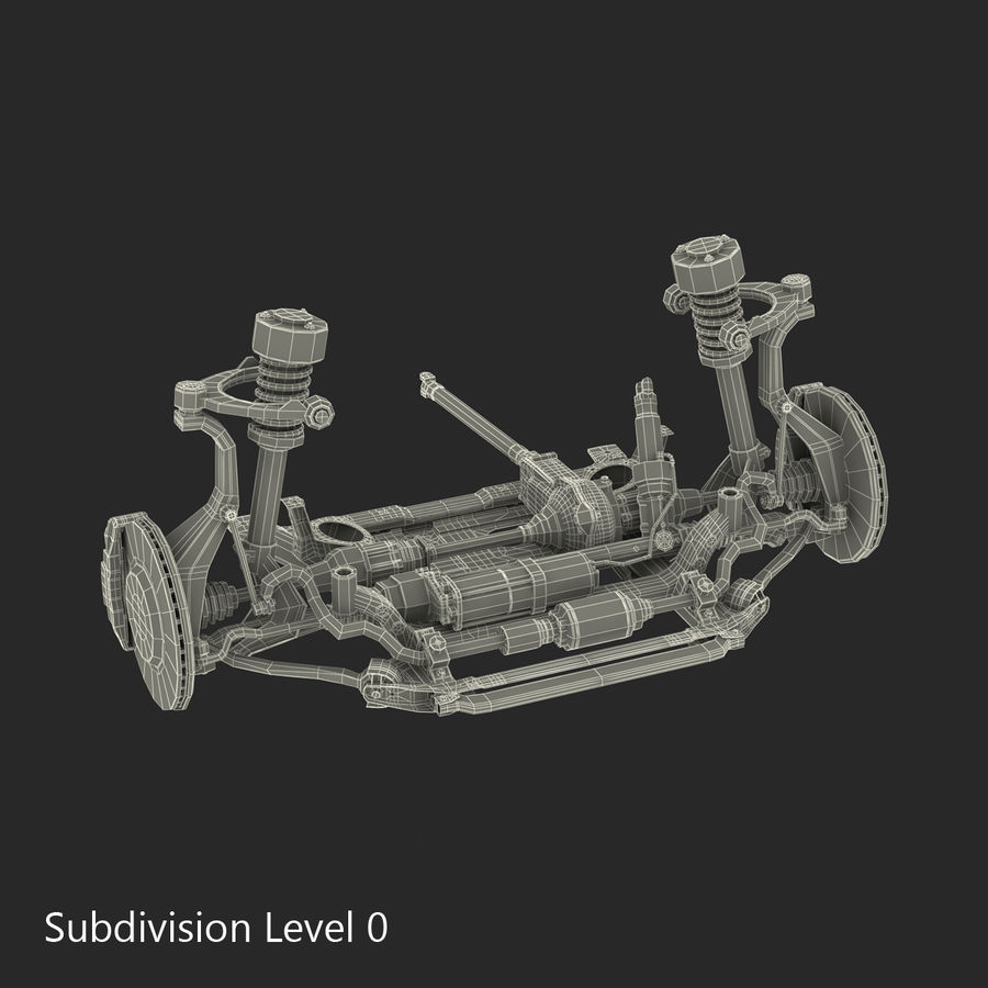 SUV Front Suspension 2 royalty-free 3d model - Preview no. 24