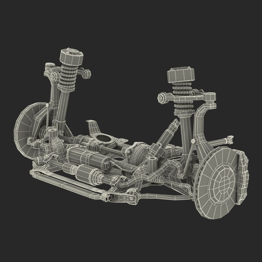 SUV Front Suspension 2 royalty-free 3d model - Preview no. 31