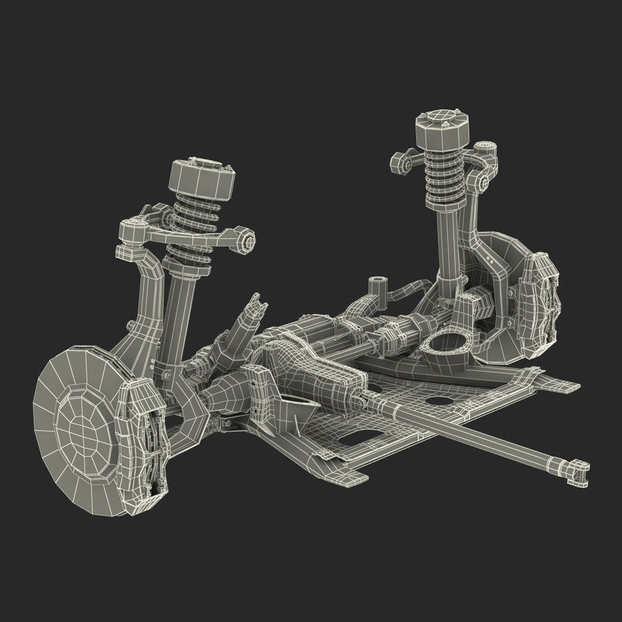 SUV Front Suspension 2 royalty-free 3d model - Preview no. 32
