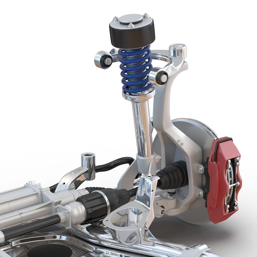 SUV Front Suspension 2 royalty-free 3d model - Preview no. 17