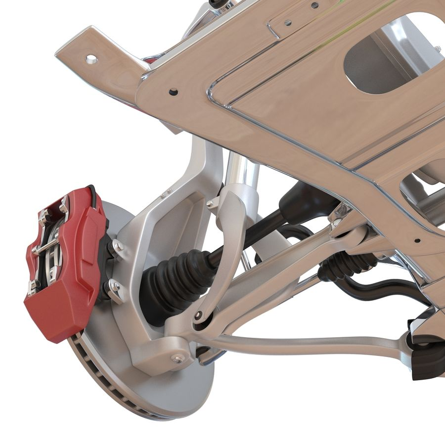 SUV Front Suspension 2 royalty-free 3d model - Preview no. 23