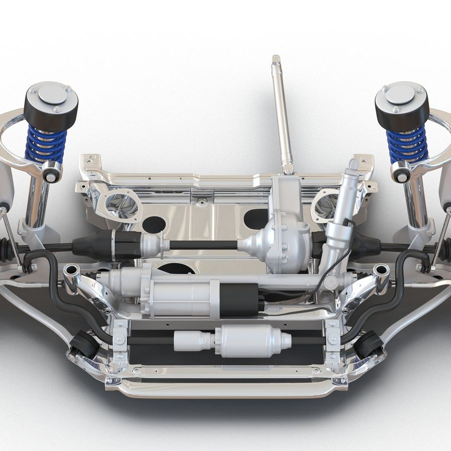 SUV Front Suspension 2 royalty-free 3d model - Preview no. 20
