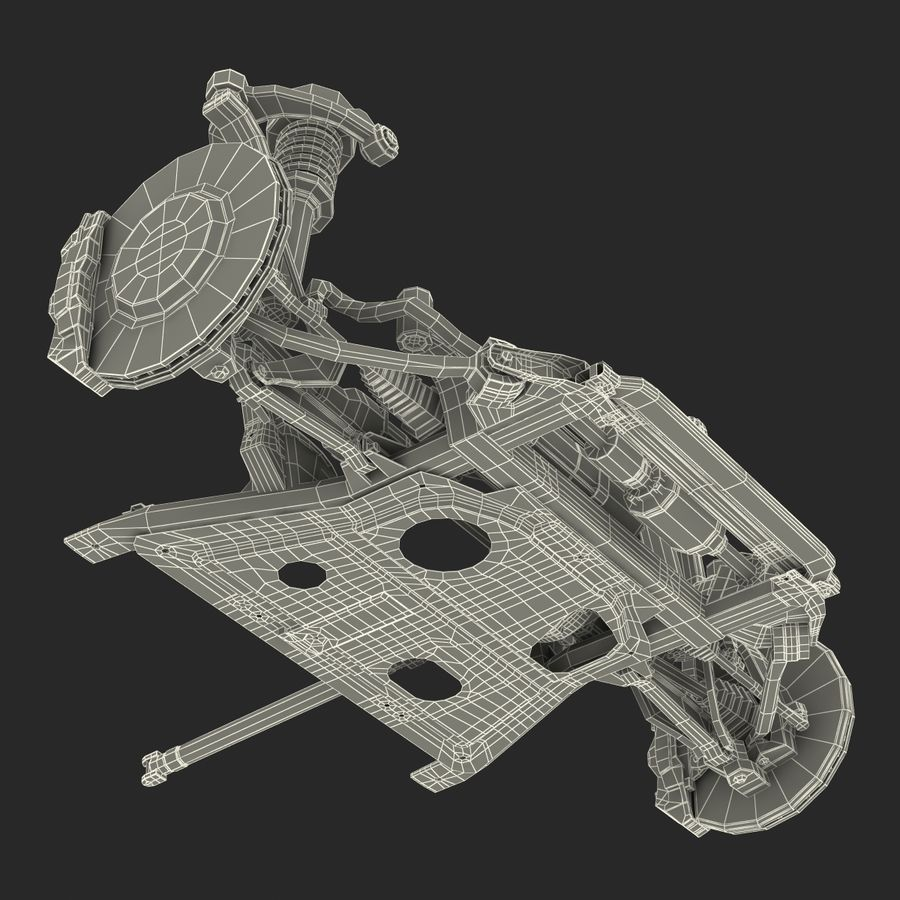 SUV Front Suspension 2 royalty-free 3d model - Preview no. 33