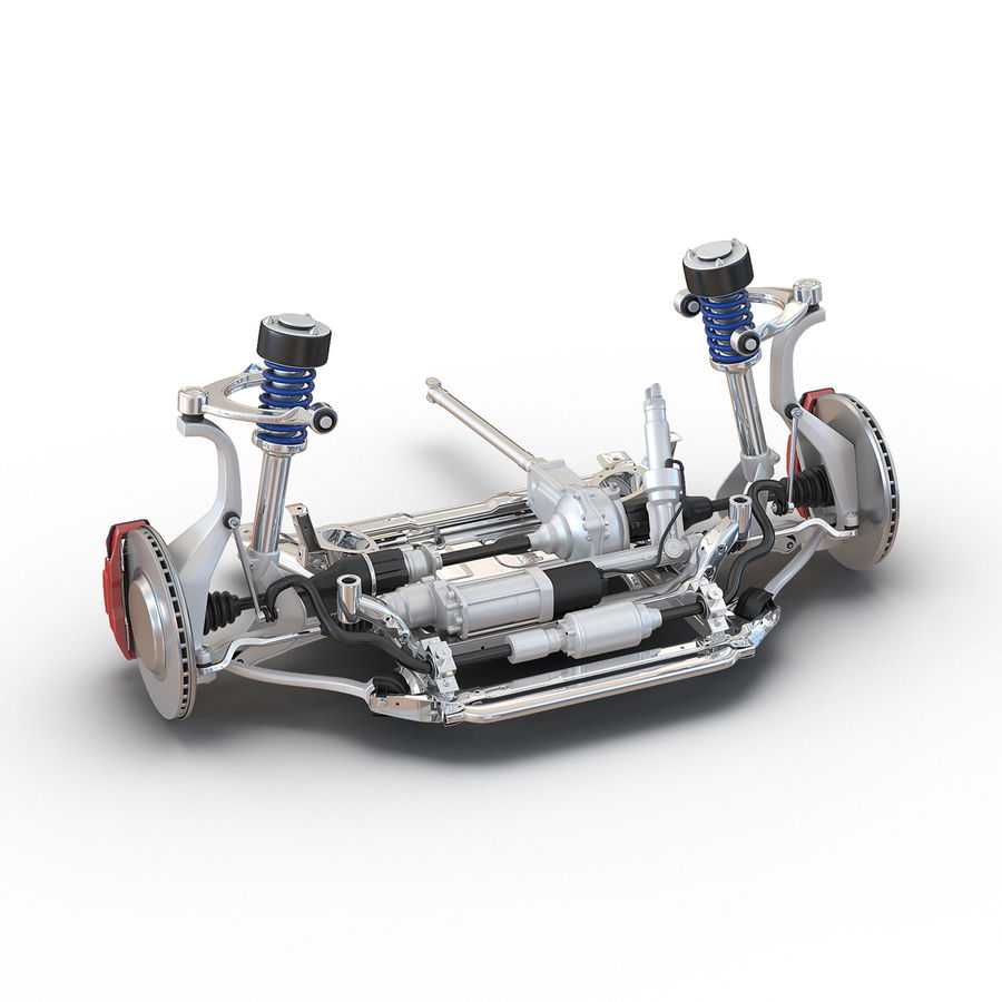 SUV Front Suspension 2 royalty-free 3d model - Preview no. 2