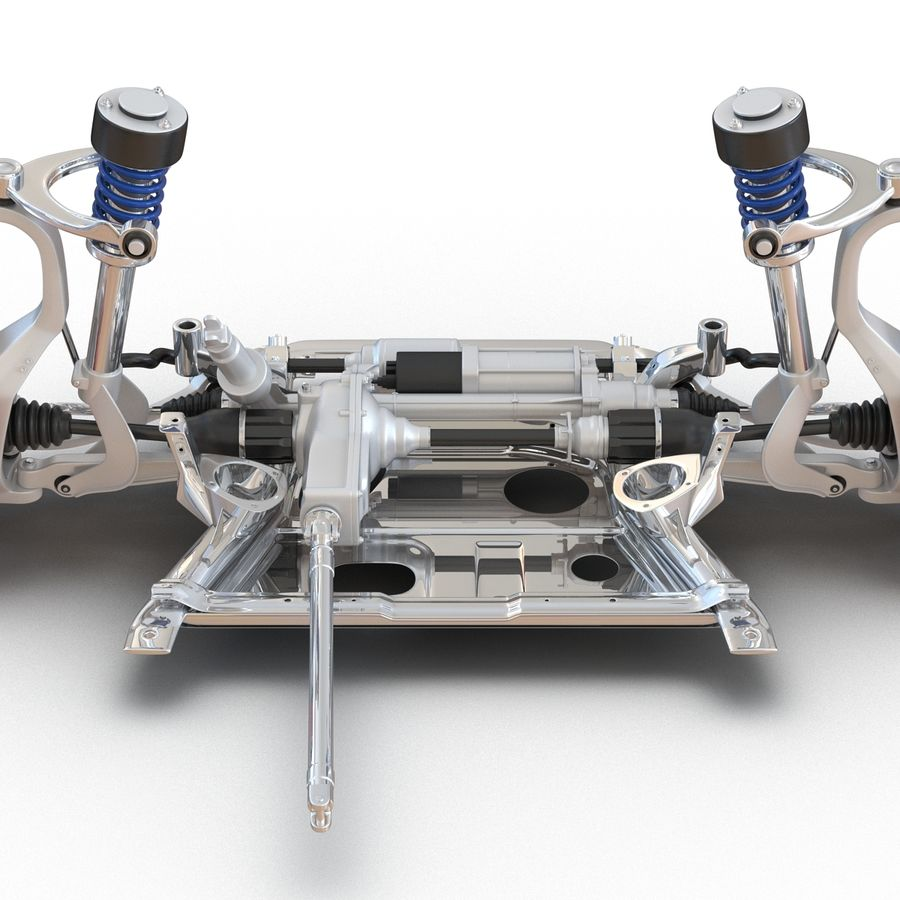 SUV Front Suspension 2 royalty-free 3d model - Preview no. 13