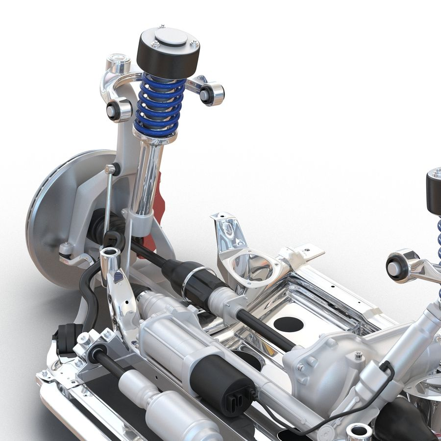 SUV Front Suspension 2 royalty-free 3d model - Preview no. 16