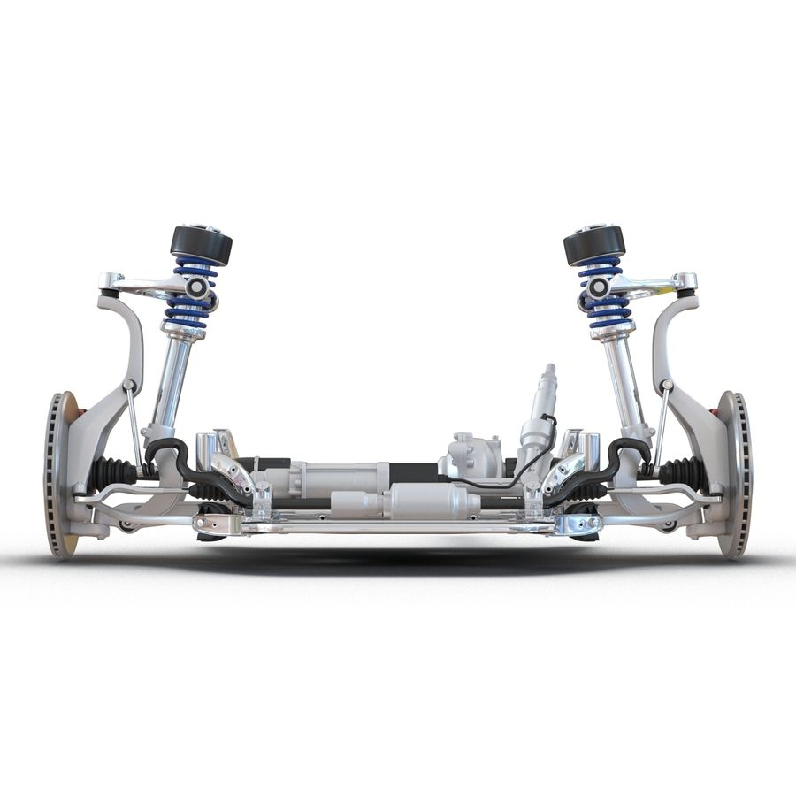 SUV Front Suspension 2 royalty-free 3d model - Preview no. 3