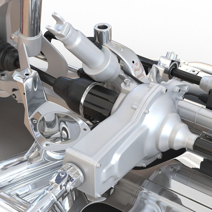 SUV Front Suspension 2 royalty-free 3d model - Preview no. 18