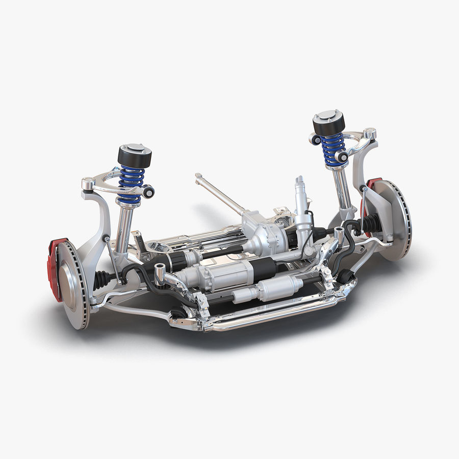 SUV Front Suspension 2 royalty-free 3d model - Preview no. 1