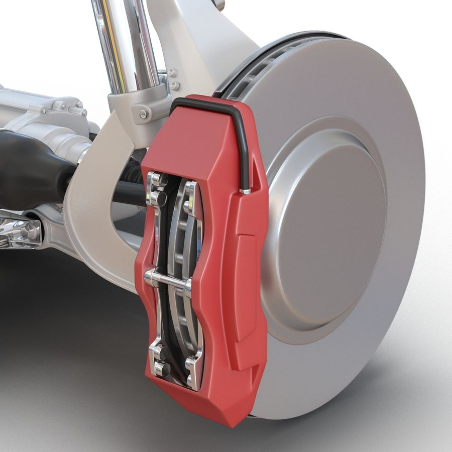 SUV Front Suspension 2 royalty-free 3d model - Preview no. 14