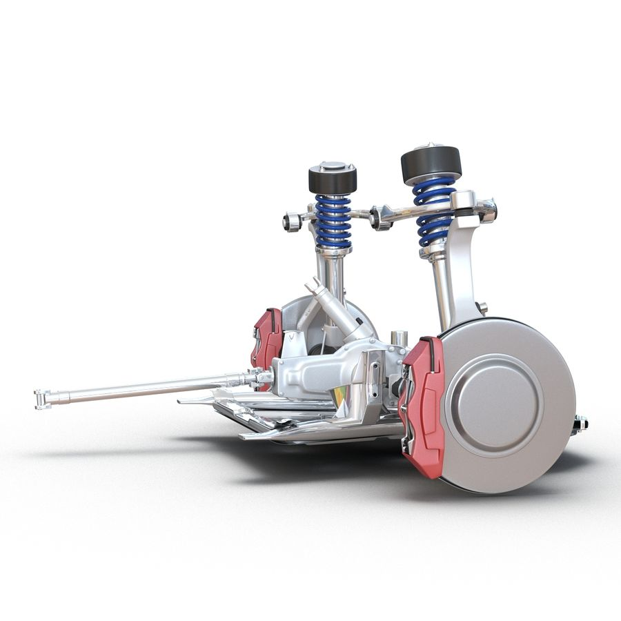 SUV Front Suspension 2 royalty-free 3d model - Preview no. 10