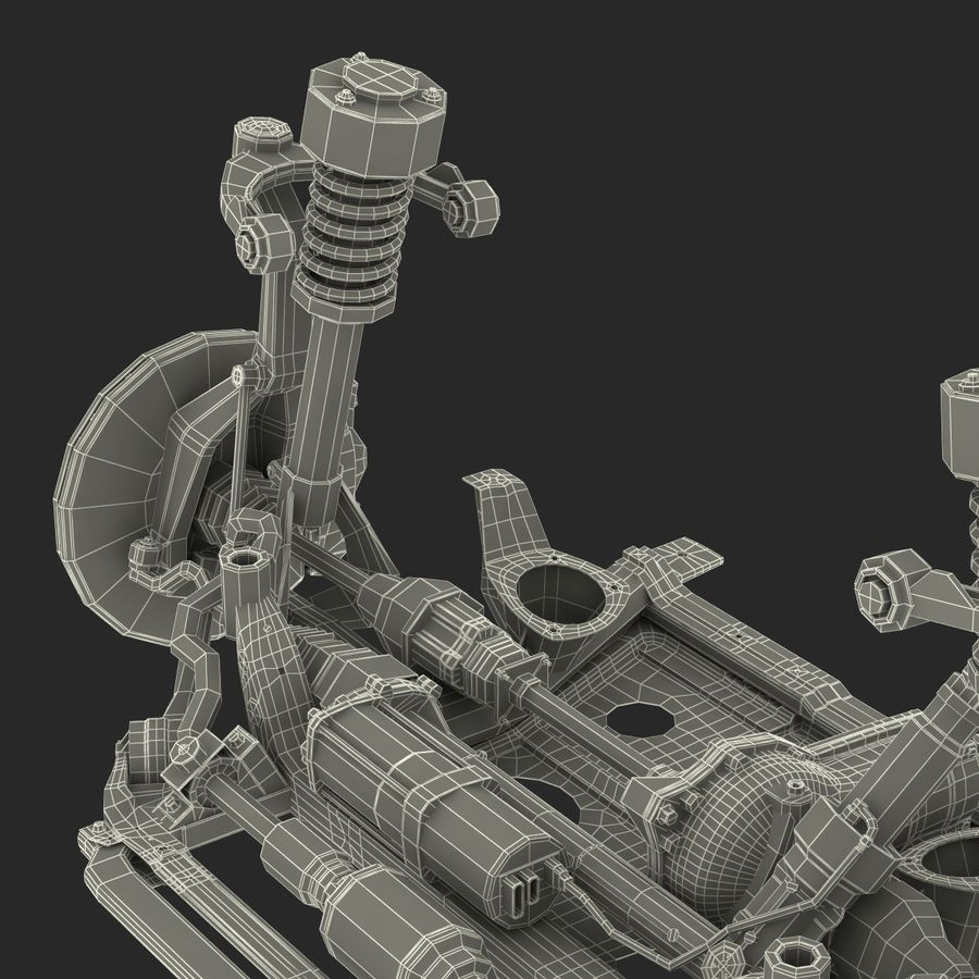 SUV Front Suspension 2 royalty-free 3d model - Preview no. 37