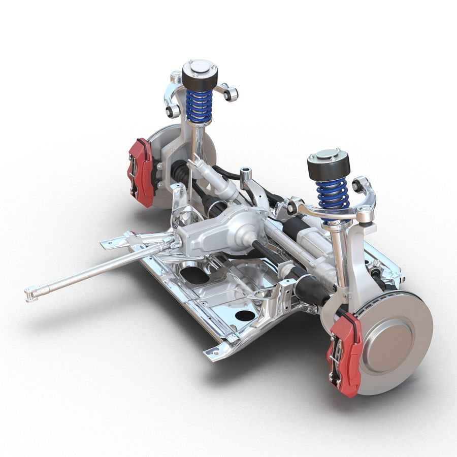 SUV Front Suspension 2 royalty-free 3d model - Preview no. 8