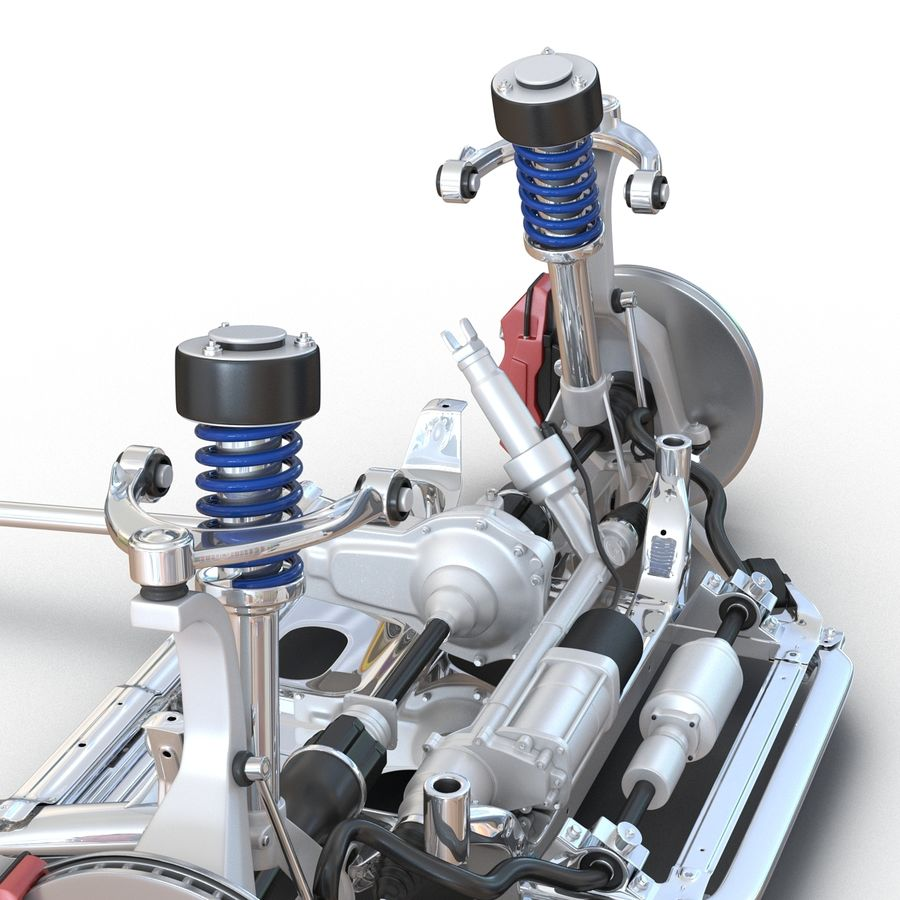 SUV Front Suspension 2 royalty-free 3d model - Preview no. 15
