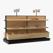 Bakery Display with Bread 3d model
