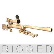 M24  rifle  rigged 3d model