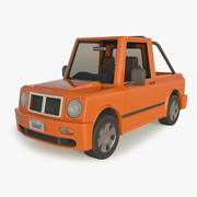 Pick-up auto dei cartoni animati 3d model