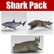 サメパック 3d model