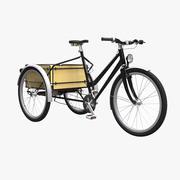 Trike Cargo Bicycle 3d model