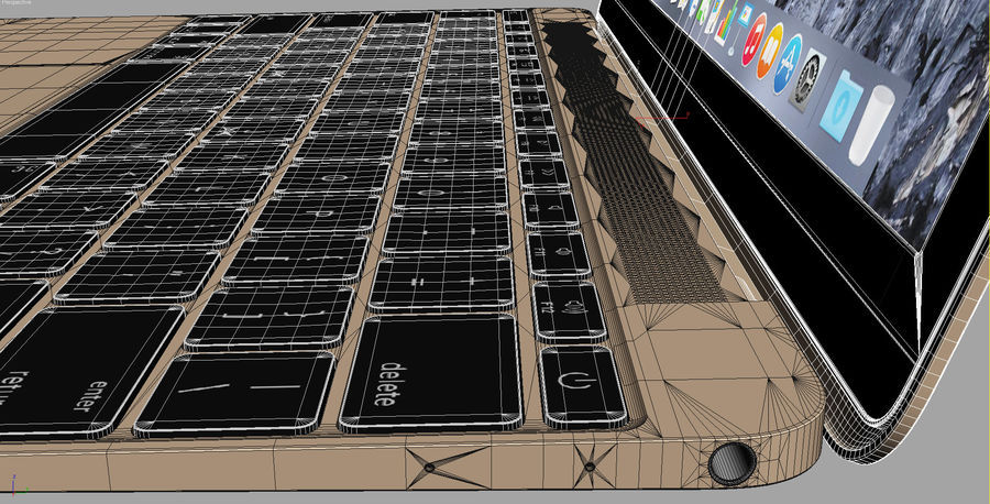 Apple Electronics Collection 2016 v1 royalty-free 3d model - Preview no. 75
