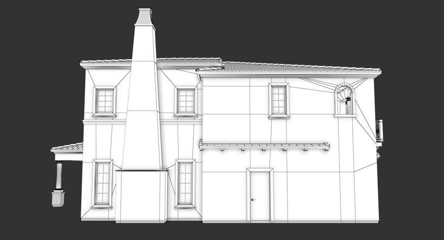 Dom na przedmieściach 01 royalty-free 3d model - Preview no. 15