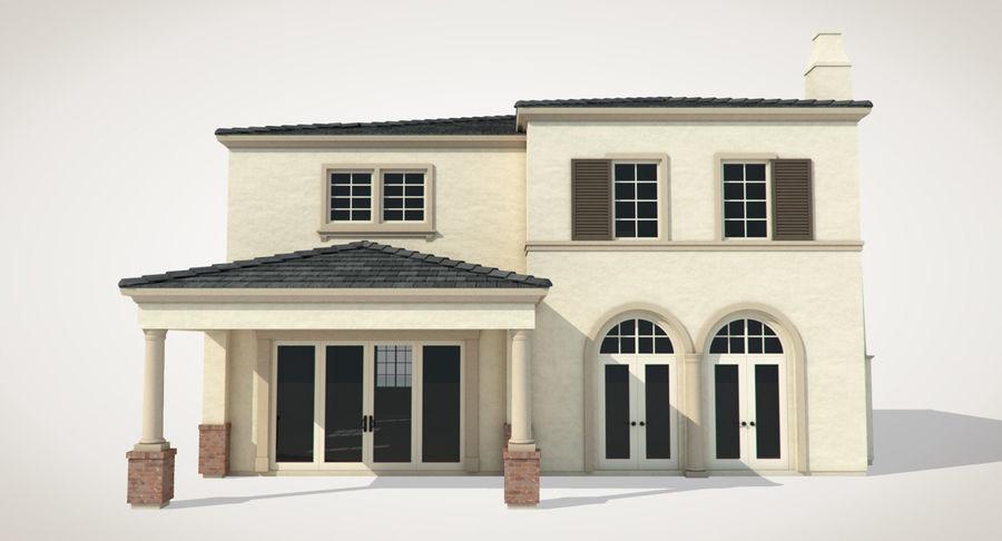 Dom na przedmieściach 01 royalty-free 3d model - Preview no. 6