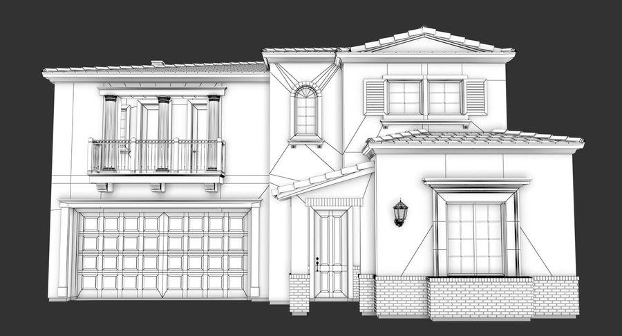Dom na przedmieściach 01 royalty-free 3d model - Preview no. 14