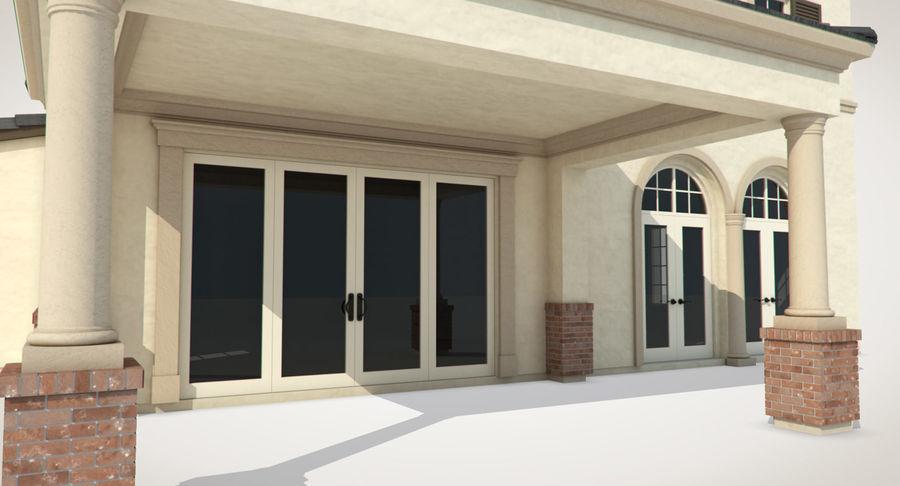 Dom na przedmieściach 01 royalty-free 3d model - Preview no. 13