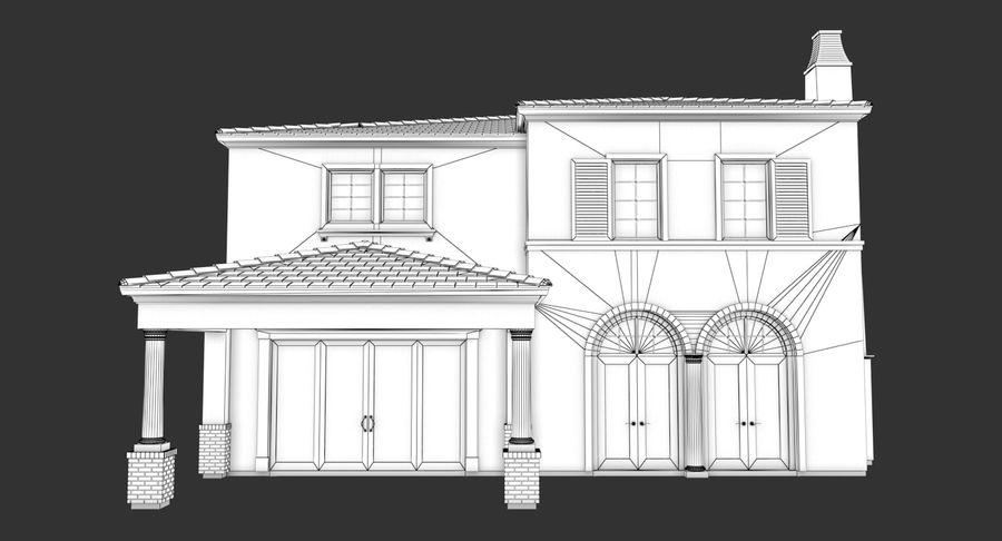 Dom na przedmieściach 01 royalty-free 3d model - Preview no. 16