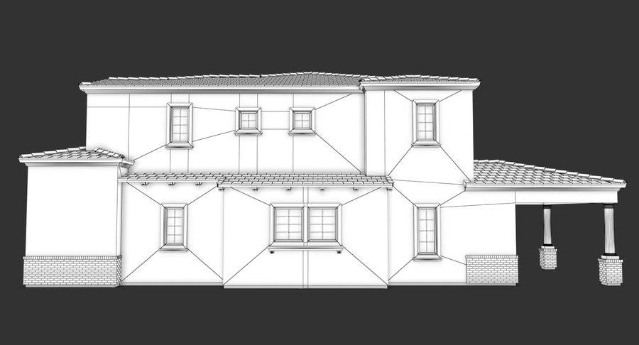 Dom na przedmieściach 01 royalty-free 3d model - Preview no. 17