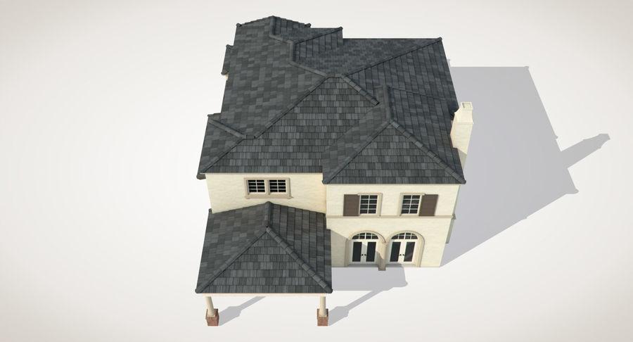Dom na przedmieściach 01 royalty-free 3d model - Preview no. 10