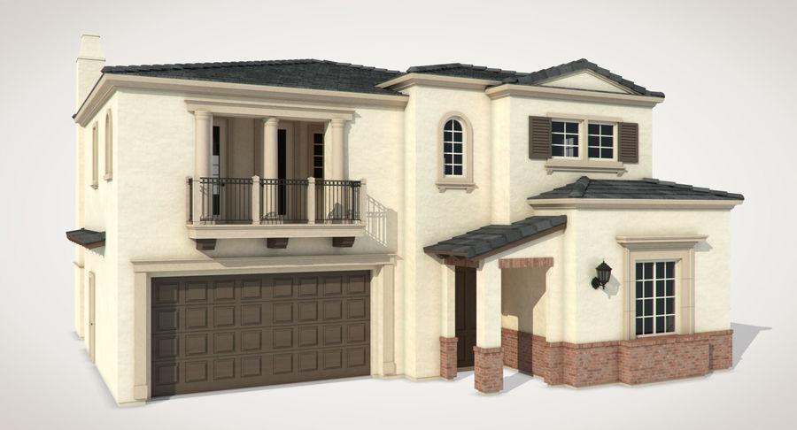 Dom na przedmieściach 01 royalty-free 3d model - Preview no. 3