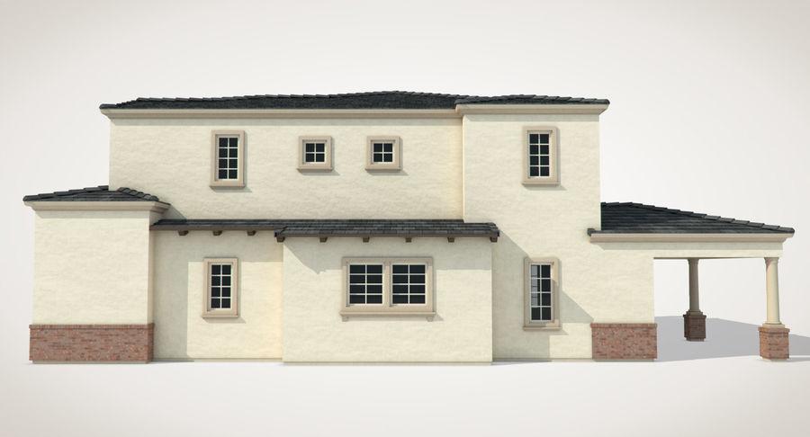 Dom na przedmieściach 01 royalty-free 3d model - Preview no. 7