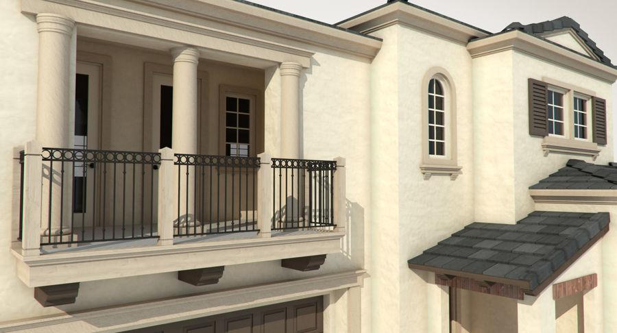 Dom na przedmieściach 01 royalty-free 3d model - Preview no. 12