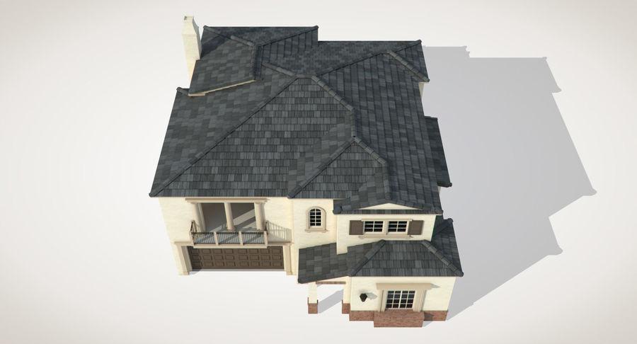Dom na przedmieściach 01 royalty-free 3d model - Preview no. 8