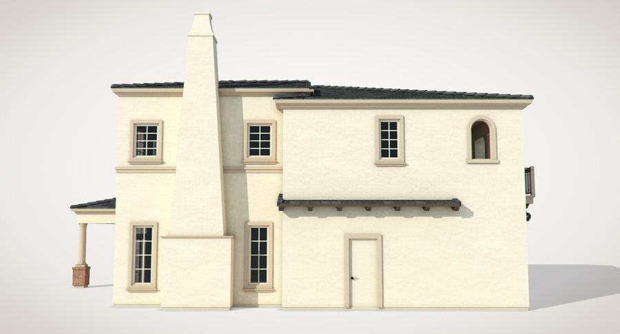 Dom na przedmieściach 01 royalty-free 3d model - Preview no. 5