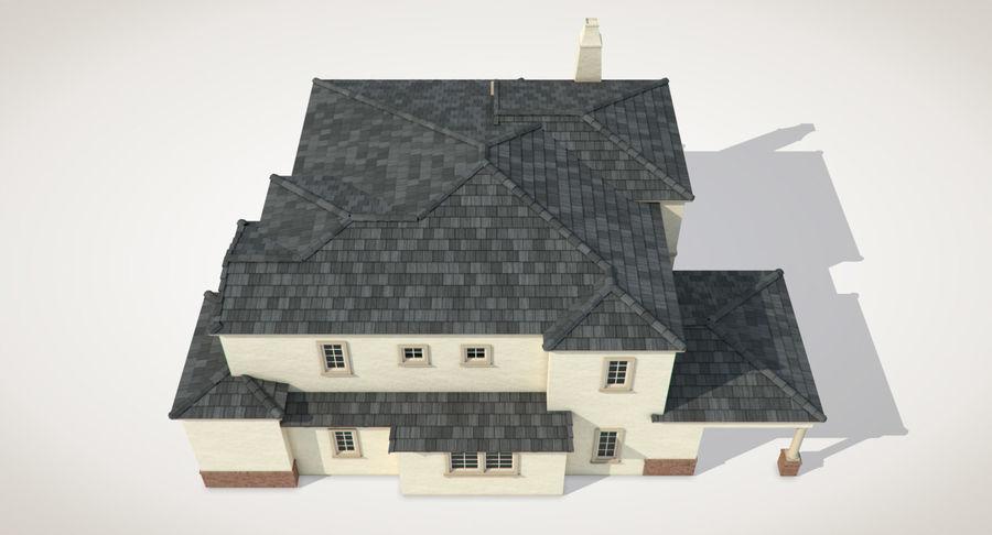 Dom na przedmieściach 01 royalty-free 3d model - Preview no. 11